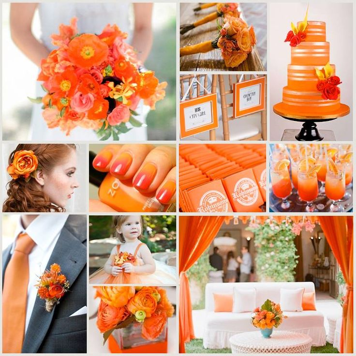 Orange wedding theme www.honeymoonshop.nl