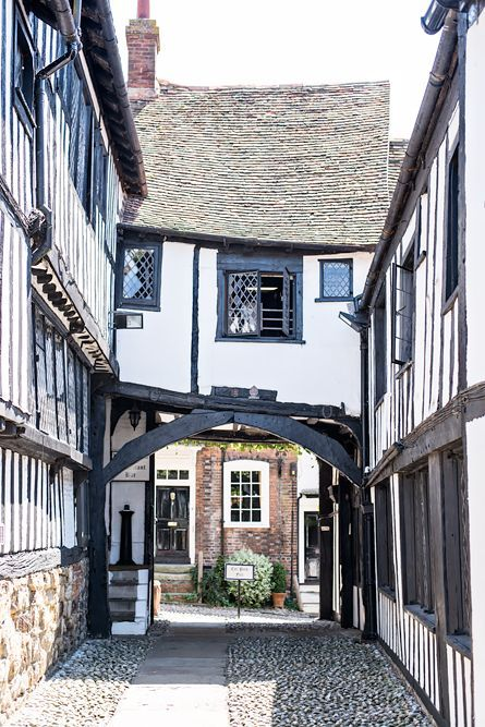 England Travel Inspiration - The picture perfect streets of Rye, England. The Mermaid Inn.