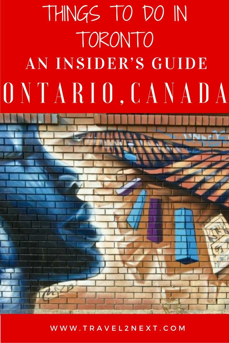 An insider's guide to things to do in Toronto Canada.