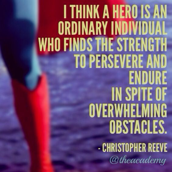 Christopher Reeve on heroes