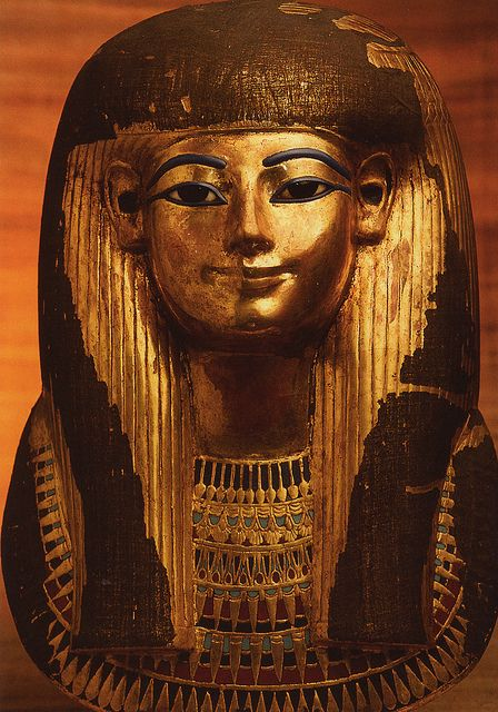Gilden Funerary Mask of Tuyu -18th Dynasty
