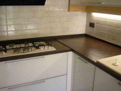 Piano cucina in quarzo tecnico S Margherita Wave