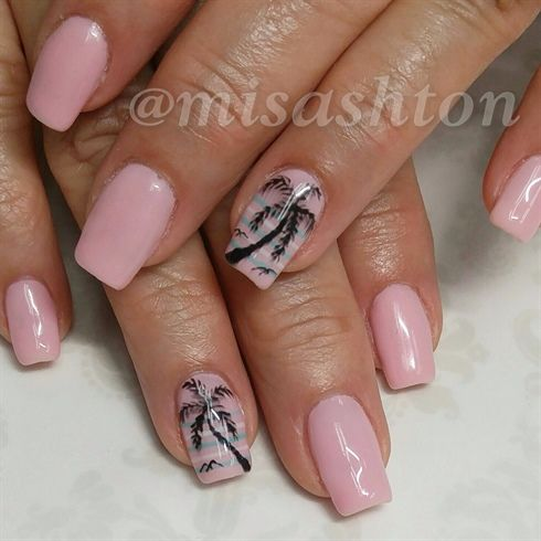 Palm trees by MisAshton from Nail Art Gallery