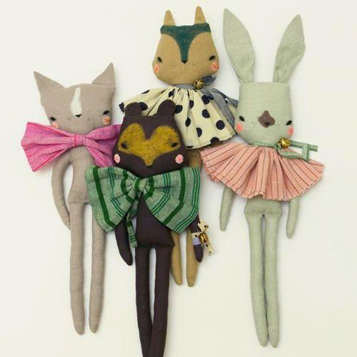 Abigail Brown fabric dolls