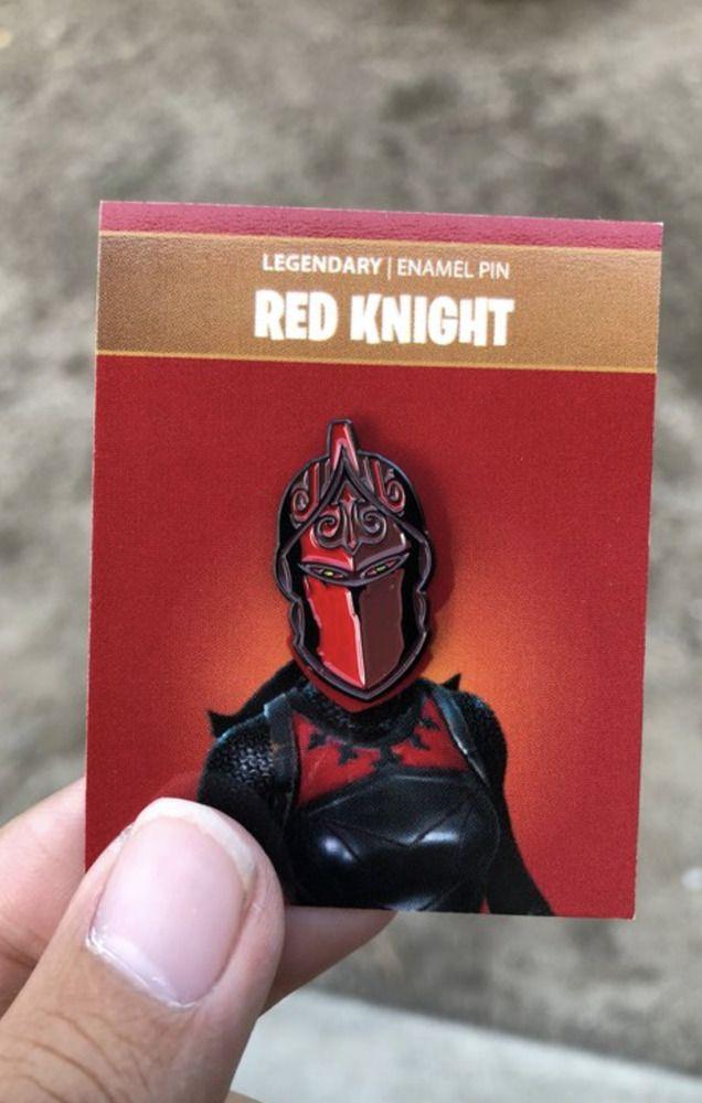 New Red Knight Fortnite Soft Enamel Pin 2018 Fortnite