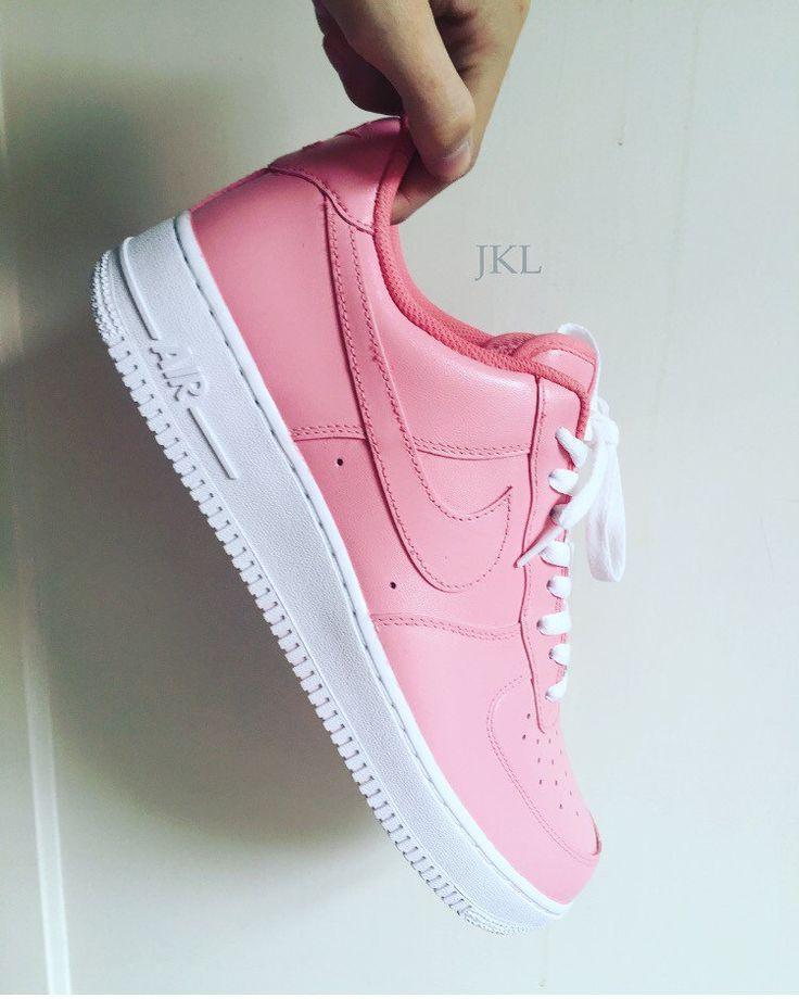 Pretty Pink Nike Air Force 1, Nike Air Force 1 Pink, Petal Pink Nike, Unisex Nike Air Force.