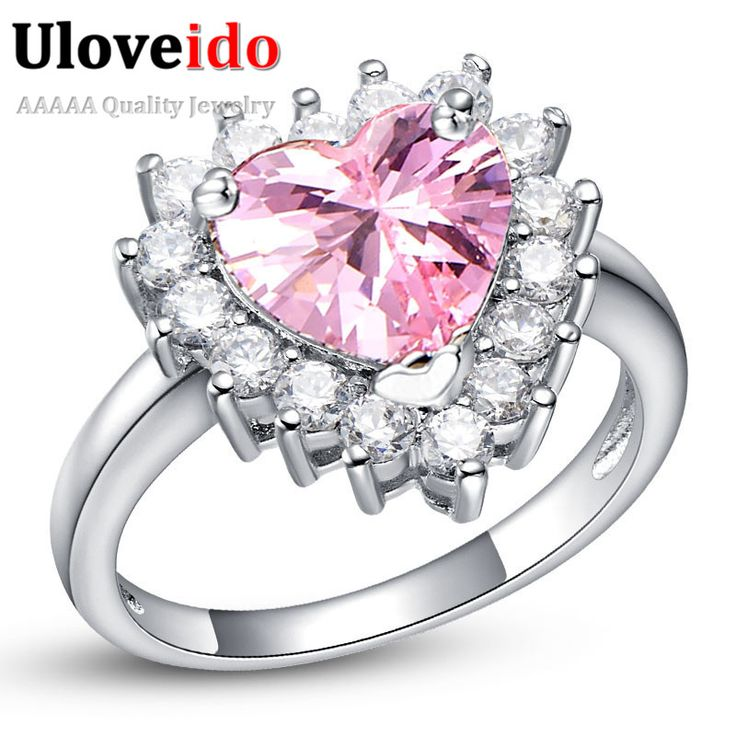 Find More Rings Information about Heart Big Wedding Rings for Women Silver Plated Simulated Diamond Engagement Ring Women's Crystal Love with Zircon 2016 J461,High Quality ring pump,China rings workout Suppliers, Cheap ring turquoise from ULOVE Fashion Jewelry on Aliexpress.com