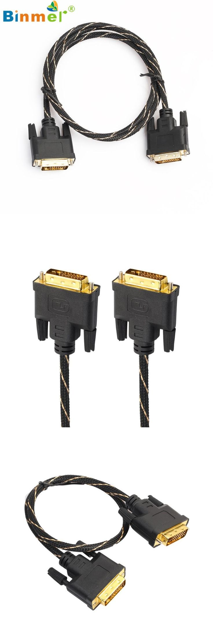 [Visit to Buy] Binmer Superior Quality LCD Digital Monitor DVI D To DVI-D Gold Male 24+1 Pin Dual Link TV Cable For TFT Apr01 #Advertisement
