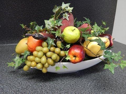 Como Hacer Un Centro De Mesa De Frutas Artificiales Buscar