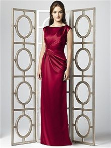 Dessy Collection Style 2854 #red #bridesmaid #dress