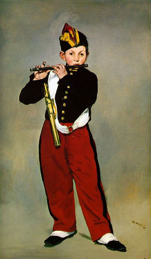 """Edouard Manet...Love the crispness of this...the Salon of 1866 rejected it because the contrasts of colors was considered """"brusque""""."""