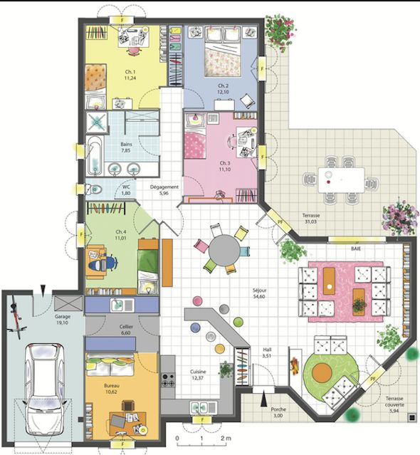 50 best maison contemporaine images on Pinterest Architecture - plan de maison 120m2 plain pied