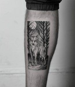 Wolf in the wilderness portrait by Ricardo Da Maia