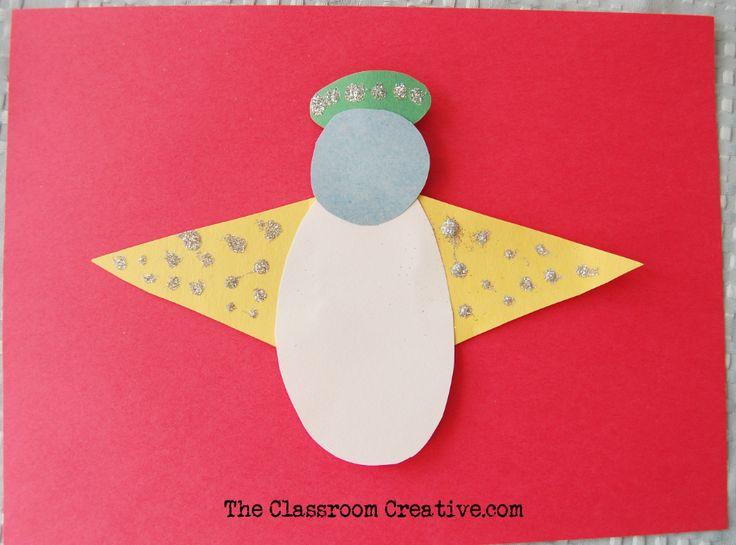Preschool angel craft using simple shapes!