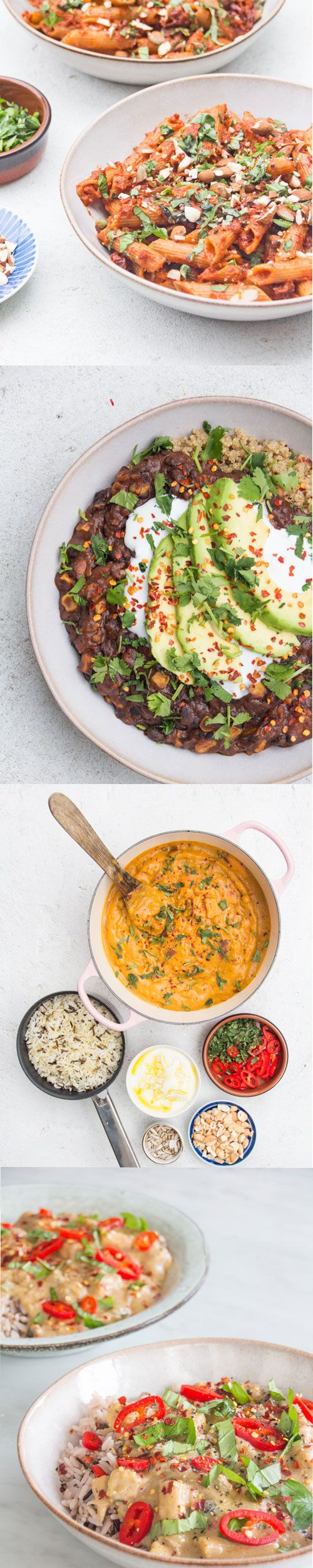 My favourite plant based winter warmers - lots of easy recipes from curries and stews to pastas, dahls, soups and potato dishes!