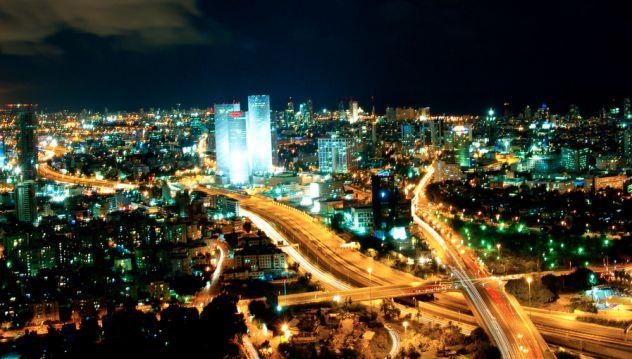 partying in Tel Aviv