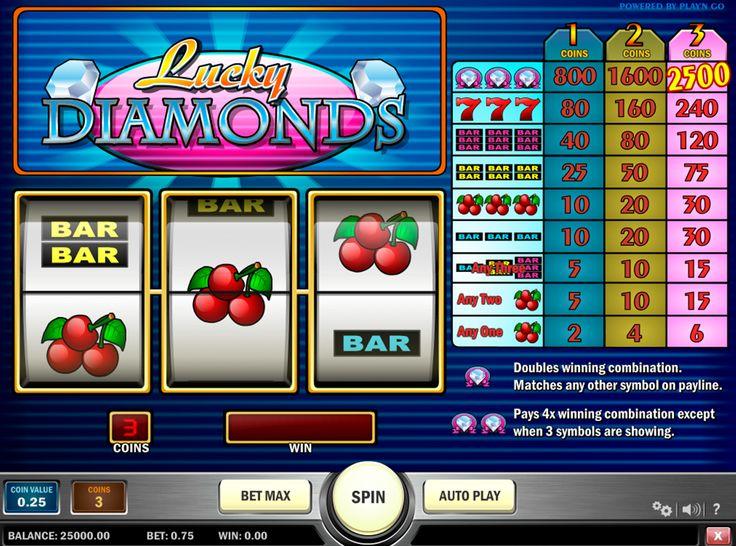 Diamante und Gewinne, was konnte noch besser sein? Teste also der Spielautomat von PlaynGO - Lucky Diamonds und versuch dein Glück!