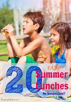 After about three days my kids get tired of sandwiches.  Here are some SUPER EASY lunches For kids (and mom) while they're home for the summer.