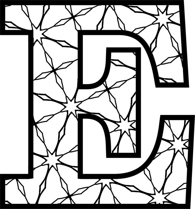 letter designs coloring pages - photo#27
