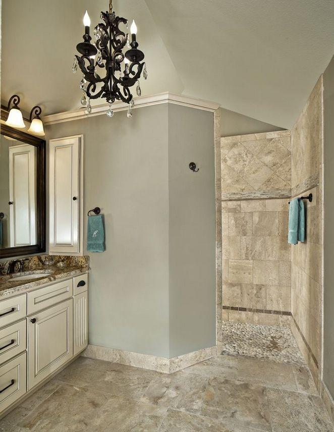 31 Master Shower Ideas No Door Walk In 38 Decorinspira Com Transitional Bathroom Design Dream Bathrooms Bathrooms Remodel