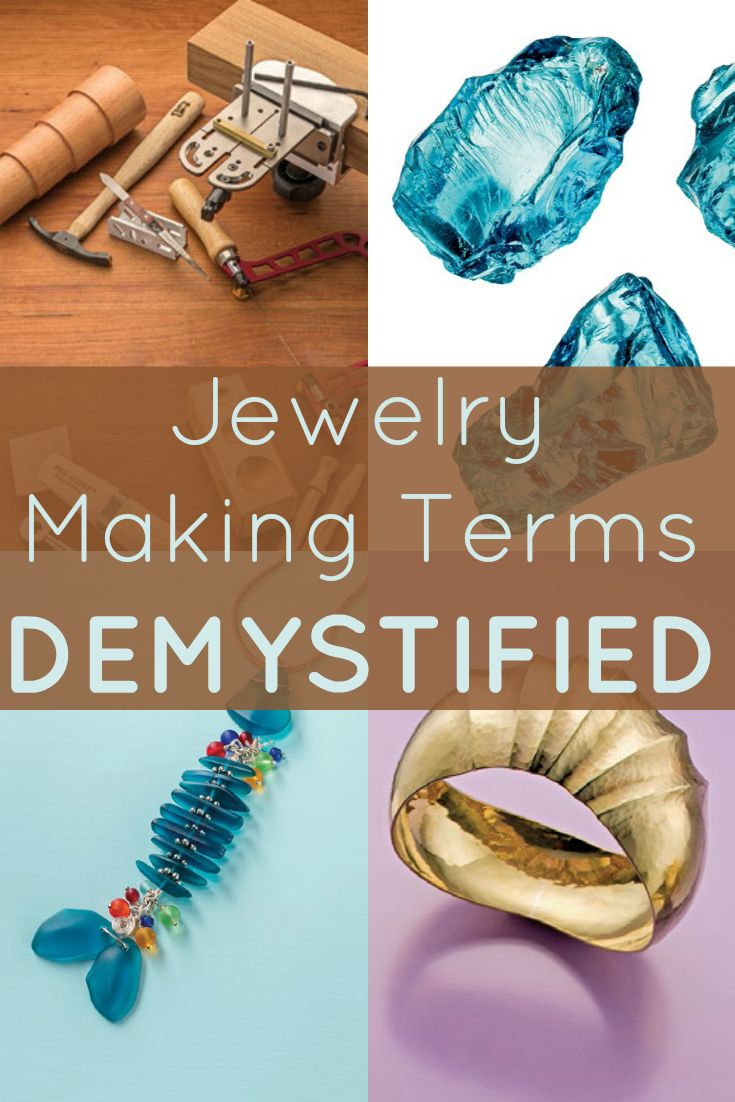 Obscure jewelry making terms are demystified in this FREE jewelry dictionary! #jewelrymaking #jewelrydictionary
