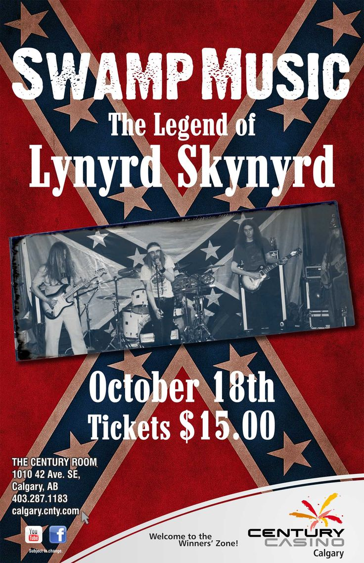 The Legend of Lynyrd Skynyrd #SwampMusic hits the @CenturyCasinoCa stage Oct 18!  Tickets $15.00