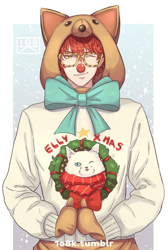 "1o8k: "" 1o8k: "" BREAKING NEWS: Local chihuahua wins Xmas. Jumin / Zen "" MERRY XMAS"""