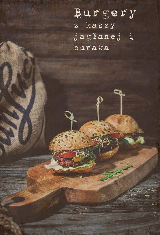 Burgery z kaszy jaglanej i buraka   #obiad