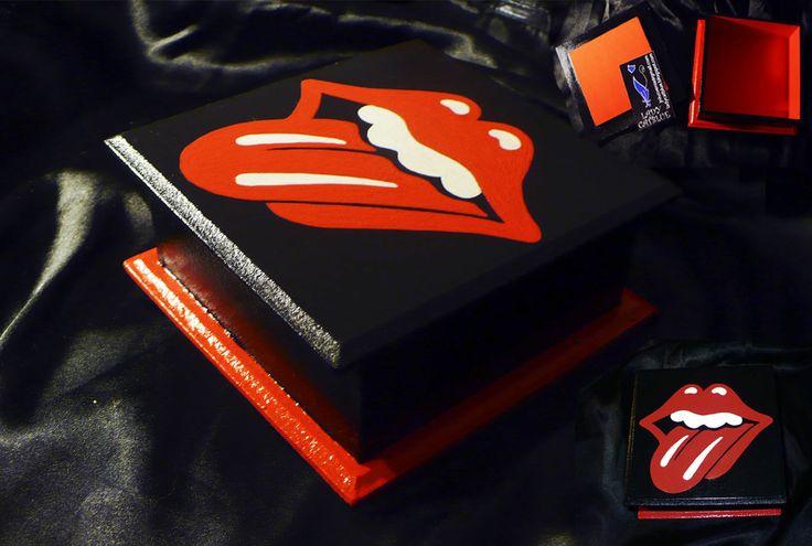 Caja Rolling Stones 11x11 cm.