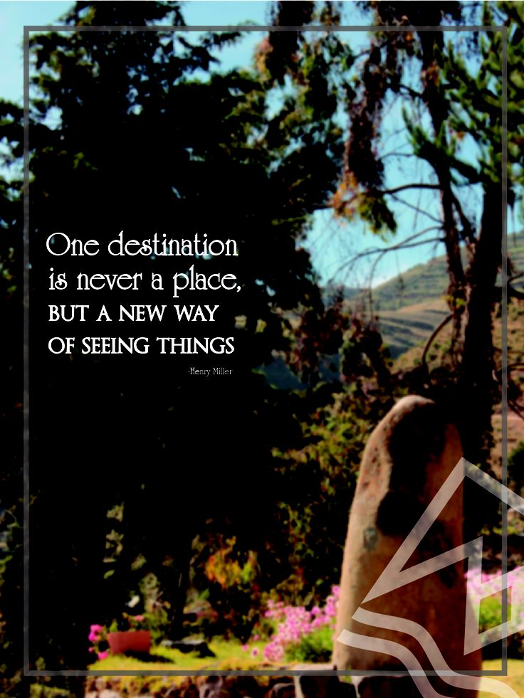 One destination is never a place - #Travelling #Quote