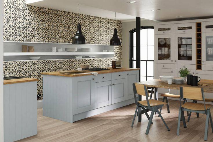 Contemporáneo Cocinas Shaker Cirencester Ornamento - Ideas de ...