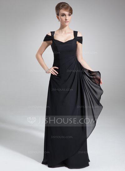 Evening Dresses - $129.99 - Sheath Off-the-Shoulder Floor-Length Chiffon Evening Dress With Ruffle (017021117) http://jjshouse.com/Sheath-Off-The-Shoulder-Floor-Length-Chiffon-Evening-Dress-With-Ruffle-017021117-g21117?ver=1