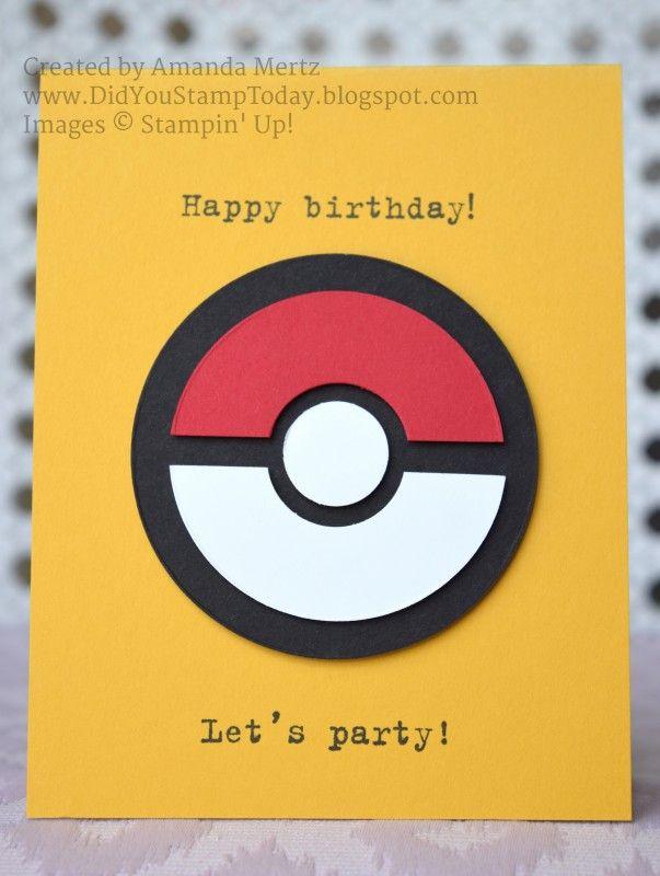 10 Best Pokemon Cards Images On Pinterest Pokemon Birthday Card