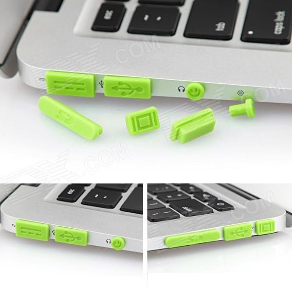 ENKAY Universal Anti-Dust Plugs for MacBook Pro with Retina Display / MacBook Air - Green (10 PCS)