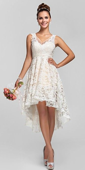 beautifully cut. dont like the high low. all around a little too much lace for a grad event. nice for the summer