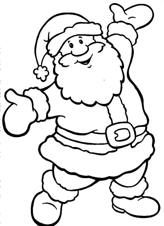 santa claus christmas coloring page santa clause coloring pages - Christmas Pages Color Printable