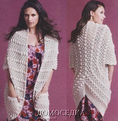 Оригинальный шарф-кардиган от Ребекки Тейлор - Вязание спицами - Страна Мам