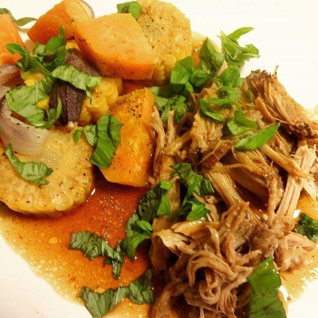Asiatisk inspirert svinestek tilberedt i Crock-Pot. Pulled porkblir som regel tilberedt av svinenakke, men det hadde de ikke på 'nær...