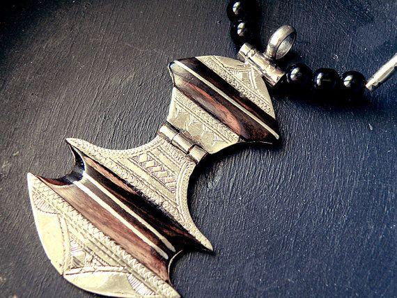 Afghan jewelry Tuareg jewelry tuareg necklace by CarmelaRosa