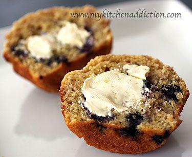Healthier Blueberry Corn Muffins | Healthy Muffins | Pinterest