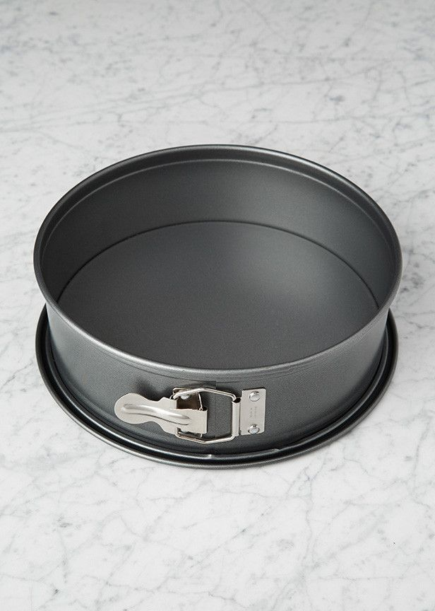 The perfect pan for making cheesecakes and tortes, available in two sizes! Springform pans are used for baking desserts that can't be flipped over, and this pan is made from quality chromium steel (not to mention it's leak resistant). Get one for your kitchen at redvelvetnyc.com