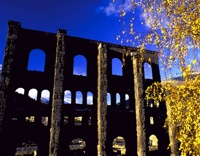 Roman theatre in Aosta, Italy    http://aosta-valley.co.uk/monuments.htm