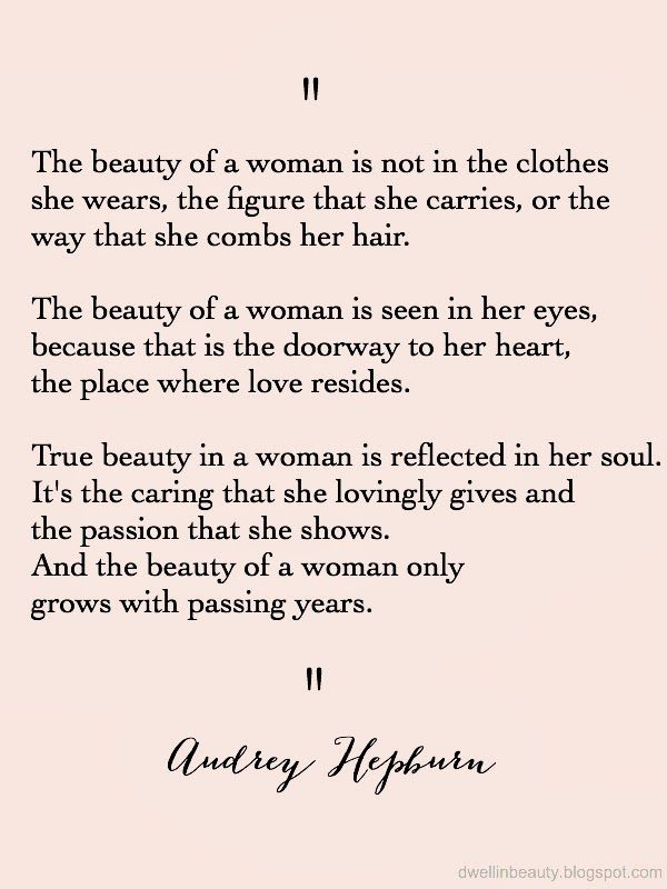 "Dwell in Beauty: Monday Musings // Quote of the Week ""Beauty of a Woman"""