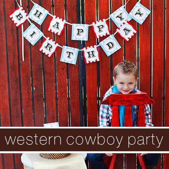 party theme graphic - cowboy party (BOY birthday party ideas!)