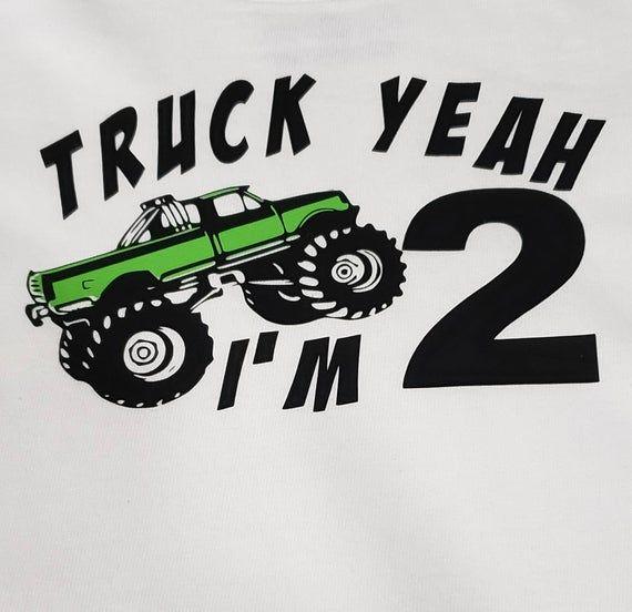 Truck Yeah Monster Truck Personalized Birthday Shirt Truck Etsy Personalized Birthday Shirts Truck Yeah Birthday Shirts
