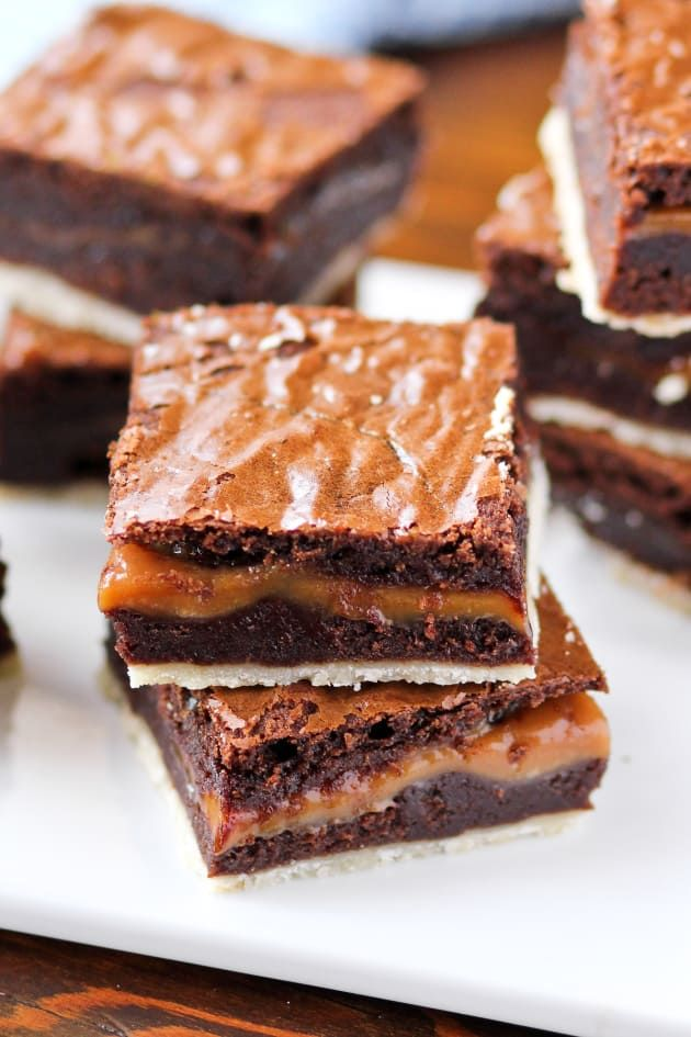 Twix Brownies have gorgeous layers that'll remind you of a Twix candy bar. Genius!