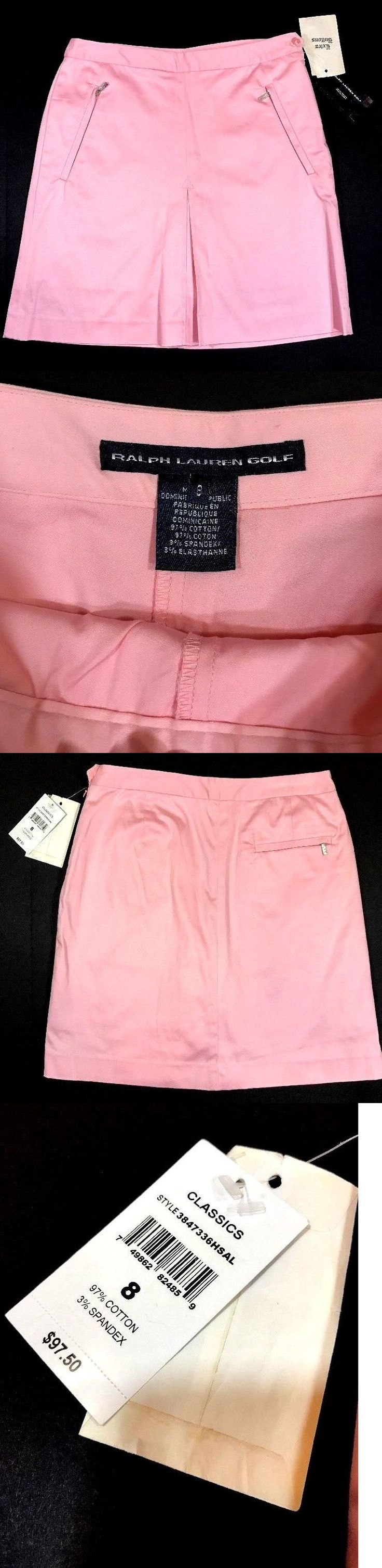 Skirts Skorts and Dresses 179003: New Nwt Ralph Lauren Golf Polo Womens Pink Skirt Size 8 M L $97.50 Skort Dress BUY IT NOW ONLY: $37.03