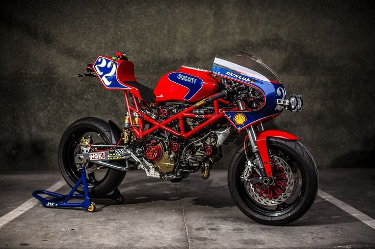 """2003 Ducati Monster 1000 IE Cafe Racer racing """"Pata Negra"""" by XTR Pepo (@xtrpepo) #motorcycles #caferacer #motos 