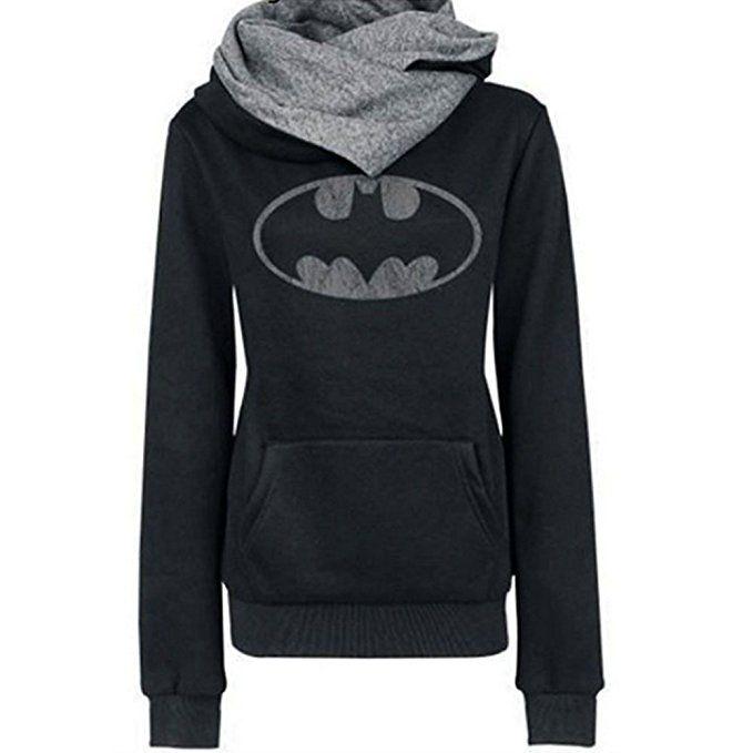 Batman Scarf Neck Hoodie - $17 - Geeky Winter Fashion!