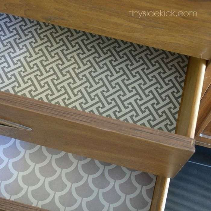 Drawers Need Love Too -Easy DIY Fabric Lined Drawers via @heytherehome #drawerliners #fabric #diy